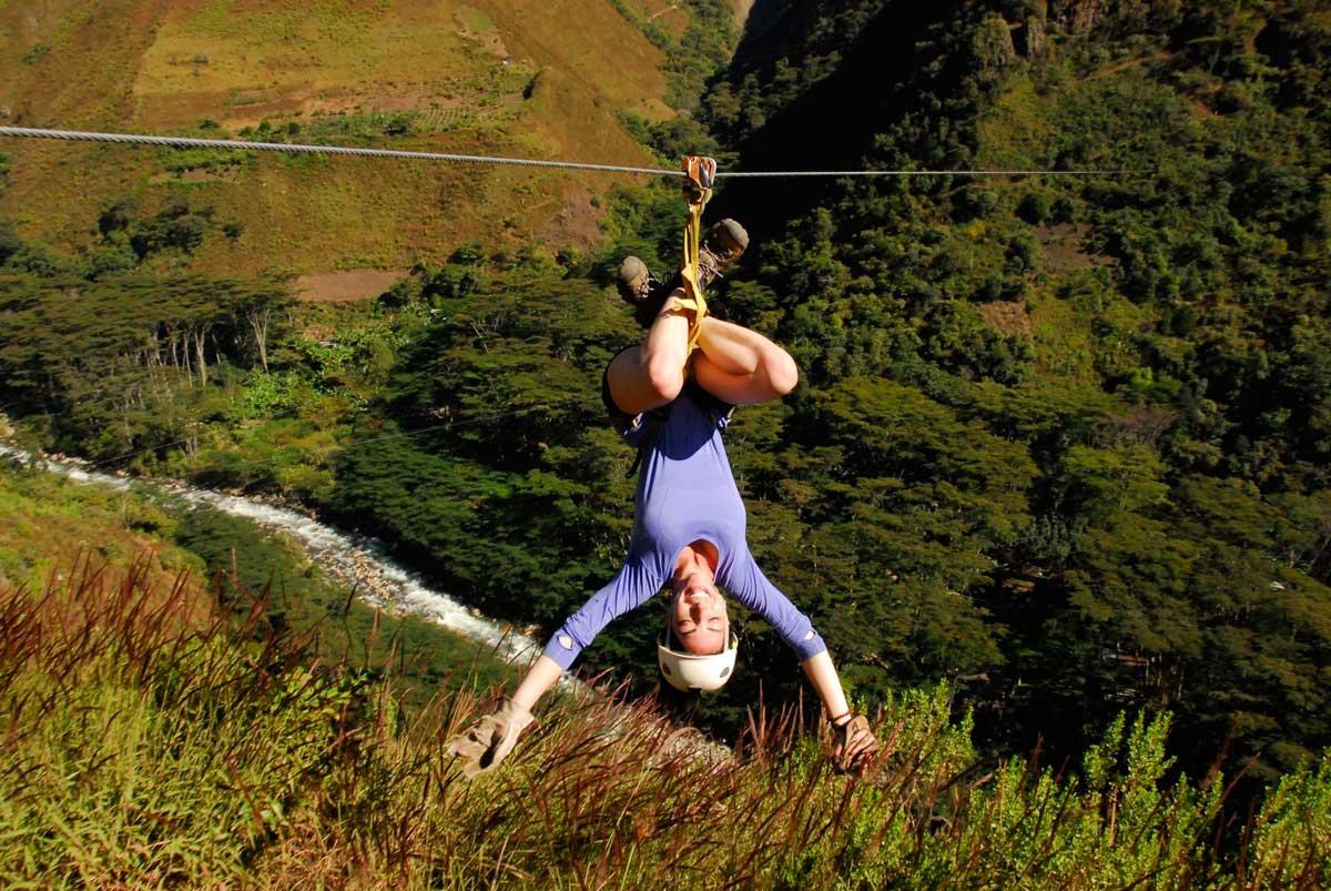 "Day 2: Inca Trail by Llactapata ""1st view Machupicchu"" AND ZIPLINE"