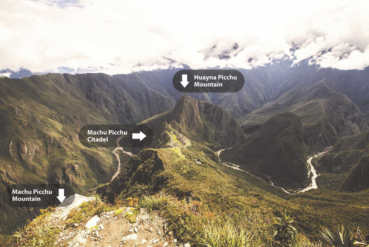 Day 5: 2nd entrance to Machupicchu Inca city Huaynapicchu Mountain or Machupicchu sacred Mountain