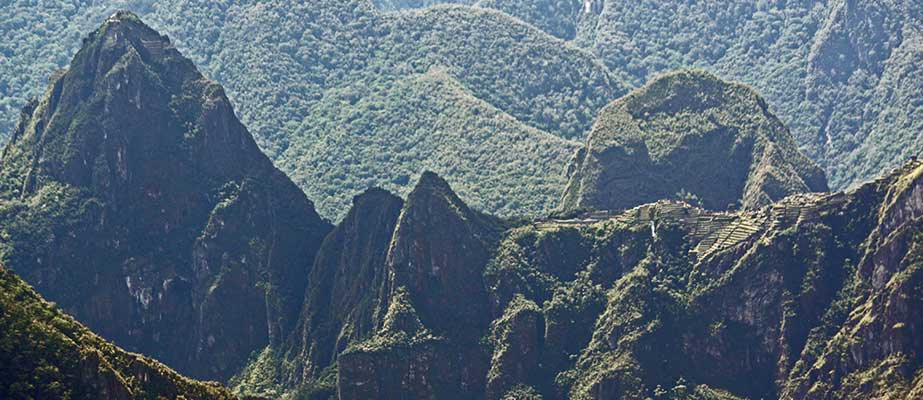 "Day 4: Inca Trail by Llactapata ""1st view of Machu Picchu"""