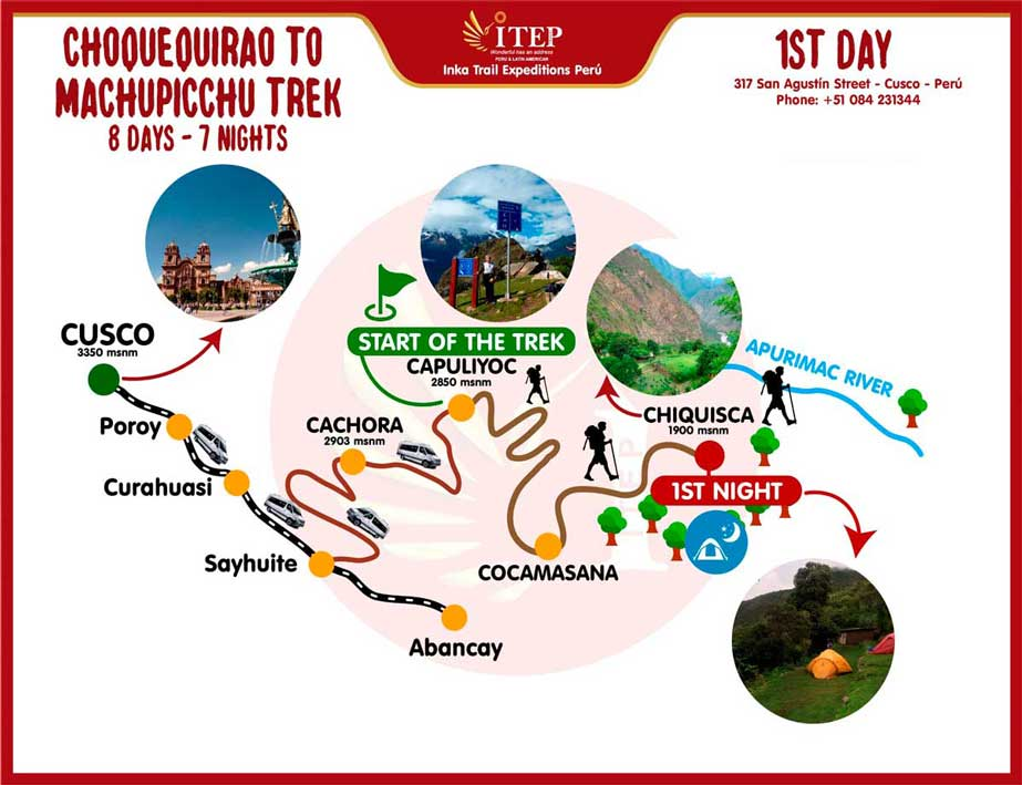 Map - Day 1: Cusco | Cachora - Playa Rosalina (Apurimac River)