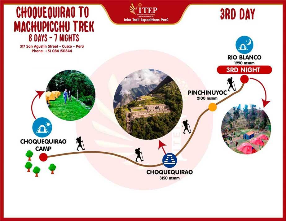 Map - Day 3: Choquequiraw | Choquequiraw Pass - Rio Blanco - Maizal