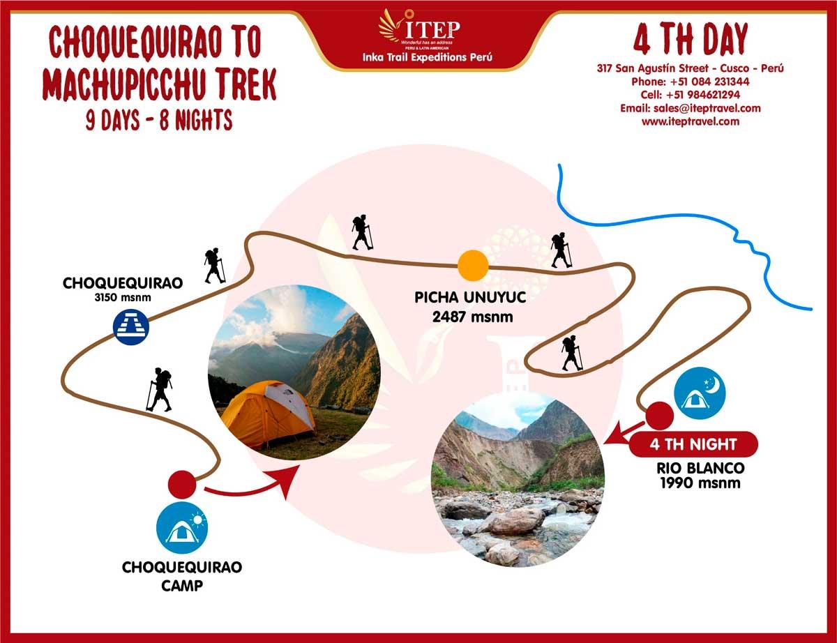 Map - Day 4: Choquequiraw | Choquequiraw Pass- Rio Blanco- Maizal