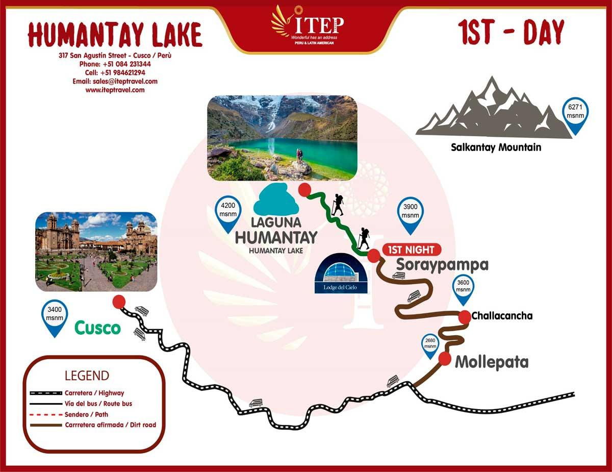 Map - Day 1: Cusco to Soraypampa